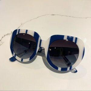 Authentic Dolce and Gabbana Blue Stripe Sunglasses
